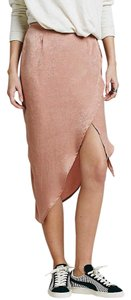 Free People Lily Wrap Silky Skirt Rose