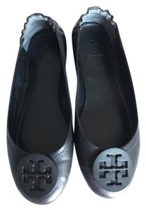 Tory Burch Minnie Ballet Napa Leather Packable Black Flats