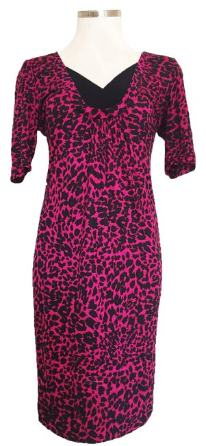 Moschino Pink Leopard Print Mid-length Short Casual Dress Size 4 (S) Moschino Pink Leopard Print Mid-length Short Casual Dress Size 4 (S) Image 1
