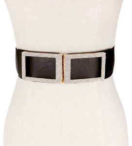 Other Pave faux leather stretch belt