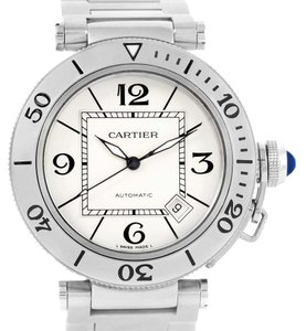Cartier Cartier Pasha Seatimer Automatic Steel Silver Dial Watch W31080M7