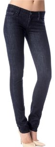 7 For All Mankind Denim Roxanne Straight Leg Jeans-Dark Rinse