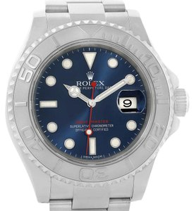 Rolex Rolex Yachtmaster Steel Platinum Blue Dial Mens Watch 116622