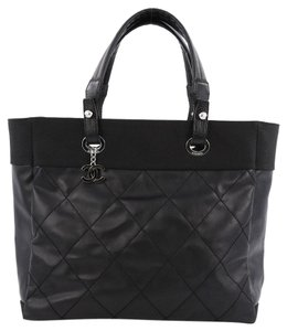 Chanel Biarritz Canvas Tote in Black