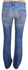 7 For All Mankind A Pocket Denim Boot Cut Jeans-Light Wash