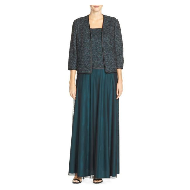 Preload https://img-static.tradesy.com/item/21246508/alex-evenings-blue-mixed-media-gown-and-jacket-set-long-formal-dress-size-8-m-0-0-650-650.jpg