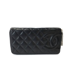 Chanel Chanel Cambon Quilted Zippy Leather Wallet