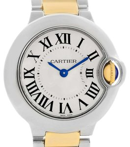 Cartier Cartier Ballon Blue Steel 18K Yellow Gold Small Watch W69007Z3