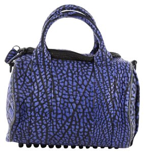 Alexander Wang Leather Satchel in Blue and Black