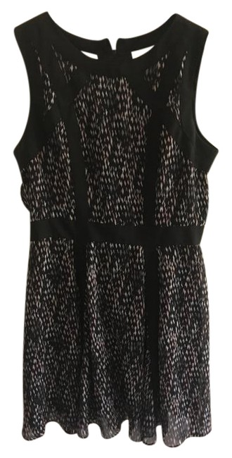 Preload https://img-static.tradesy.com/item/21246657/banana-republic-pink-gray-black-paneled-front-mid-length-cocktail-dress-size-12-l-0-1-650-650.jpg