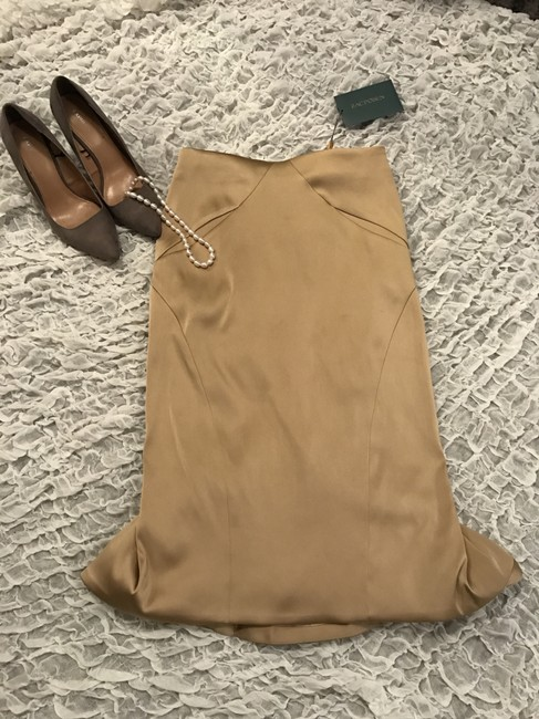 Zac Posen Mermaid Skirt Gold