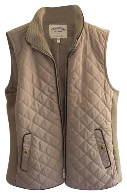 Preload https://img-static.tradesy.com/item/21246694/cambridge-dry-goods-tan-quilted-vest-size-4-s-0-2-650-650.jpg