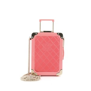 Chanel Plexiglass Leather Pink Clutch