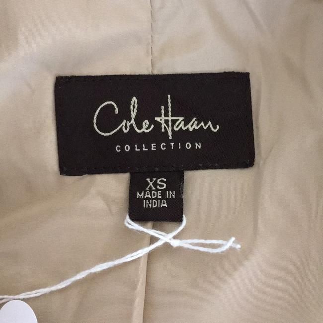 Cole Haan Suede Leather Beaded tan brown Jacket