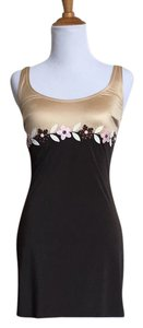 Moschino short dress brown / tan Applique Floral Swim on Tradesy