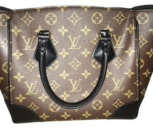 Louis Vuitton Satchel in monogram LV with black handle and strap