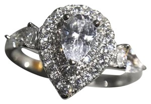 Other New 925 Silver Size 4 Pear Shape Ring