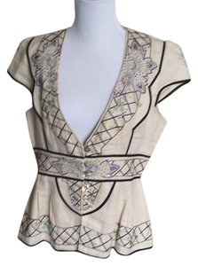 Nanette Lepore Embroidered Sequin Vest Cap Sleeve Tunic