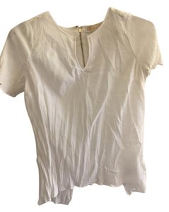 Michael Kors Gold Hardware Open-back Cut-out T-shirt Top White