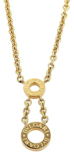Preload https://img-static.tradesy.com/item/21246905/bvlgari-yellow-gold-18k-two-open-circle-pendant-and-chain-necklace-0-1-540-540.jpg