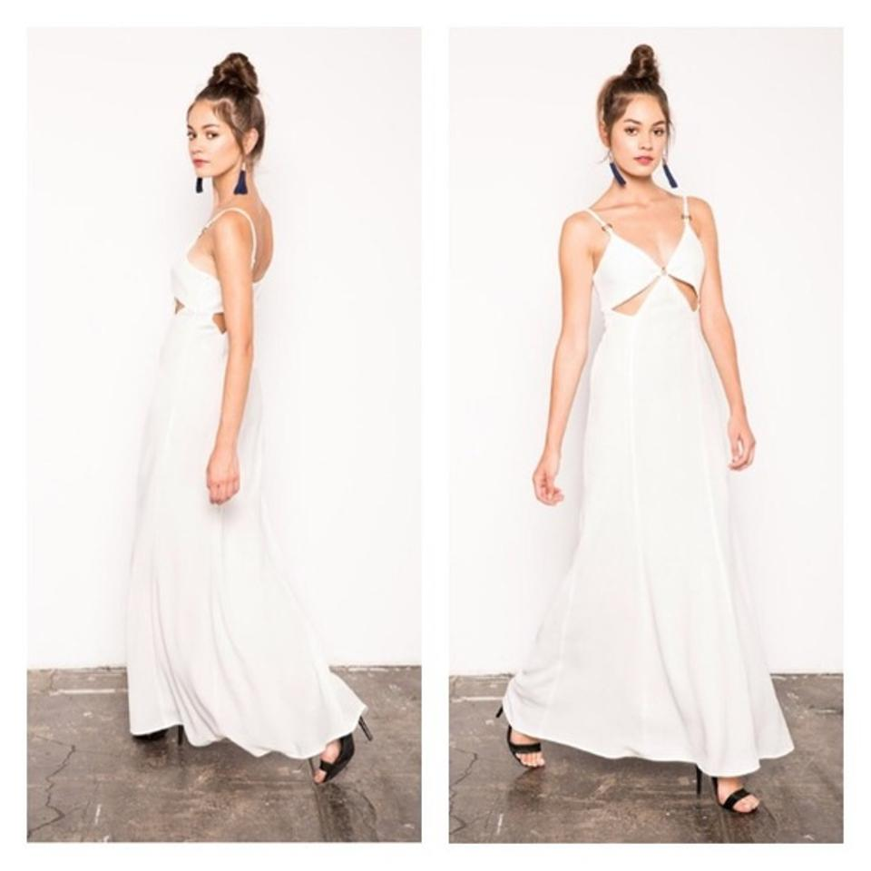 Stone cold fox white cutout crepe gown long formal dress size 8 m stone cold fox dress 123 ombrellifo Images