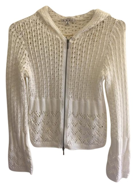 CAbi Knit Crochet Hooded Silver Hardware Sweater