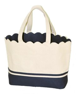 Alexandra Windsor Beach Beach Canvas Canvas Tote in Blue
