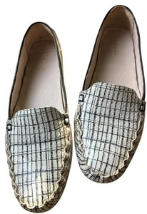 Cole Haan And Leather White with black stripes Flats