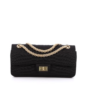 Chanel Reissue 2.55 Satin Black Clutch
