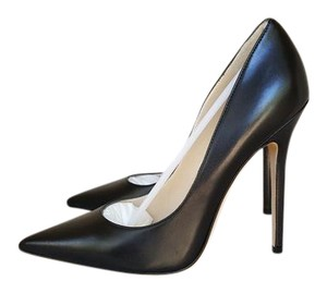Jimmy Choo Leather Anouk Black Pumps