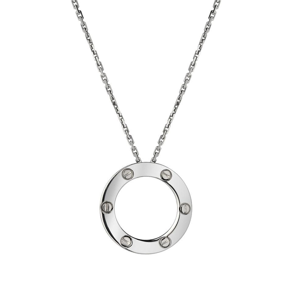 Cartier 18kt White Gold Love Pendant Necklace - Tradesy