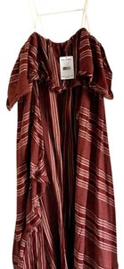 Burgundy with with and beige stripes Maxi Dress by Free People