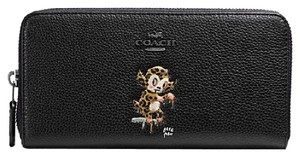 Coach Baseman X Coach Accordion Zip Wallet In Pebble Leather