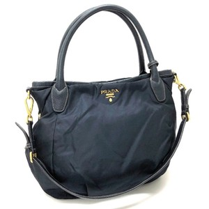Prada Nylon Leather Shoulder Bag