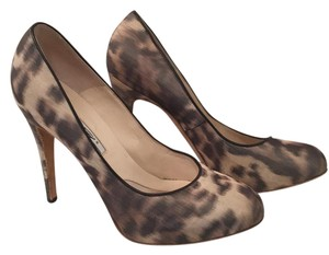 Brian Atwood black tan Platforms