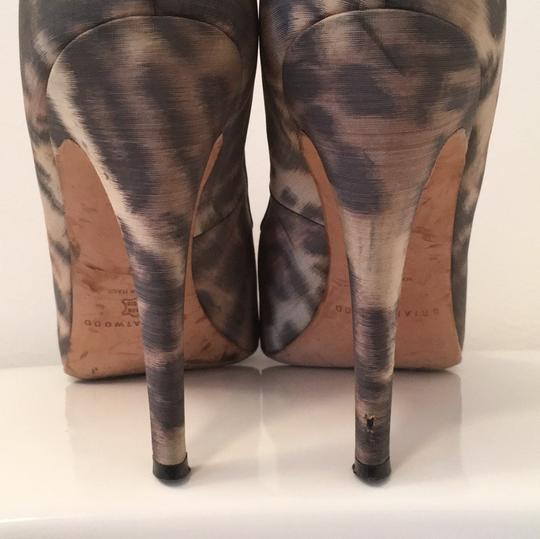 Brian Atwood black tan Platforms Image 4