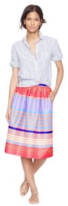 J.Crew Skirt Neon Stripe