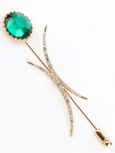 Glass Stone Metal Setting Pin And Brooch