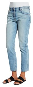The Row Designer Denim Light Wash Straight Leg Jeans-Light Wash