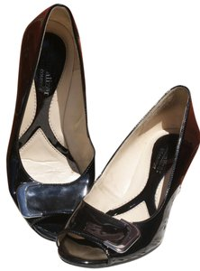 Naturalizer Signature Luxury Comfortable Black & Silver Wedges