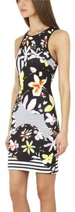 Clover Canyon Canyon Neoprene Floral Discs Bodycon Dress
