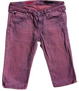 AG Adriano Goldschmied Capri/Cropped Denim-Coated