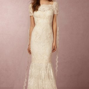 BHLDN Ivory Lace Ephra Marchesa Notte Formal Wedding Dress Size 0 (XS)