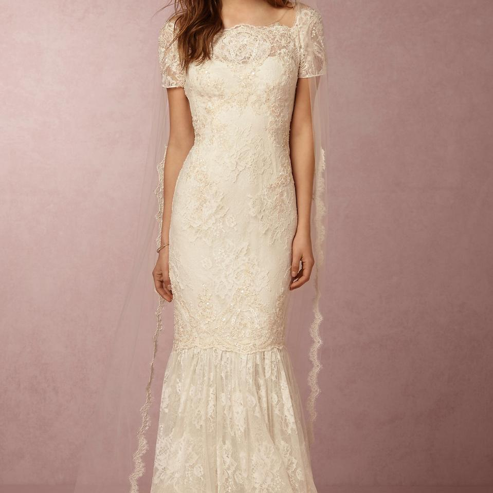 a7fd6059 BHLDN Ivory Lace Ephra Marchesa Notte Formal Wedding Dress Size 0 (XS)  Image 0 ...