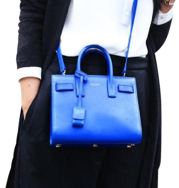 Item - Sac de Jour Purple/Blue Leather Messenger Bag