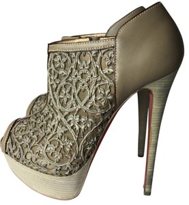 1515fc89f36 Green Christian Louboutin Boots   Booties - Up to 90% off at Tradesy