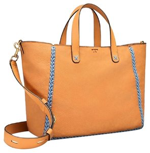 Tory Burch Whipstitch Nwt Leather Tote in Camello