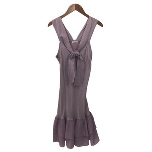 Lolita Silk Sleeveless Tie Ruffle Cotton Dress