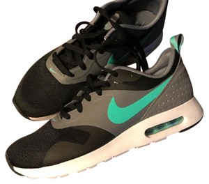 the latest 33da9 fddd8 Nike Gray and Black with Aqua Swoosh Air Max Tavas Essential Sneakers