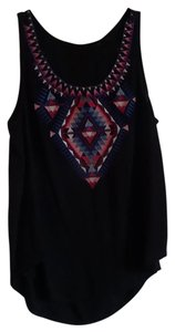 Cato Top black with pinks designs